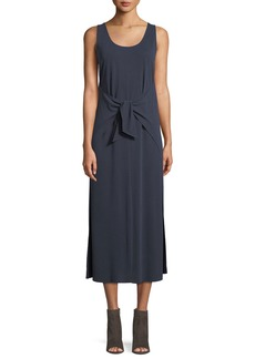 Vince Sleeveless Tie-Waist Midi Dress