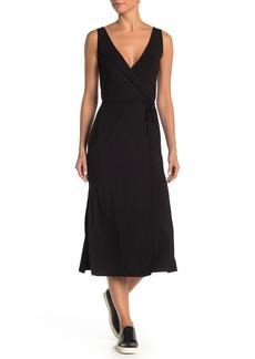 Vince Sleeveless Wrap Maxi Dress