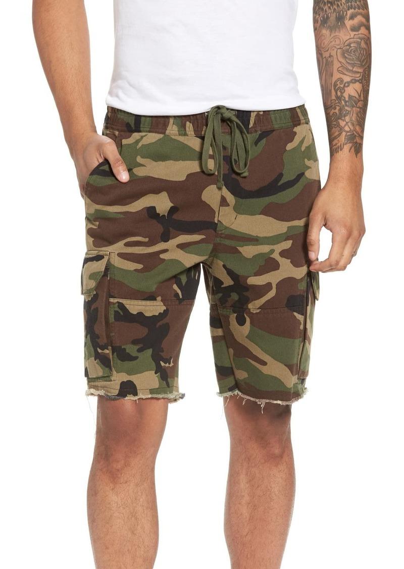 Vince Slim Fit Camo Print Cargo Shorts