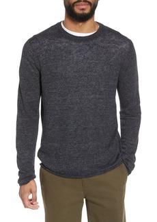 Vince Slim Fit Linen Crew Neck Sweater
