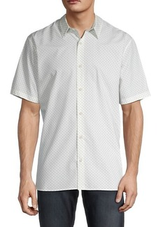 Vince Slim-Fit Micro-Print Shirt