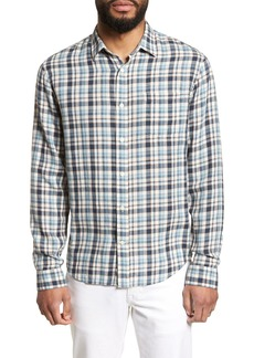 Vince Slim Fit Plaid Sport Shirt