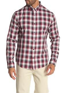Vince Slim Fit Shadow Plaid Sport Shirt