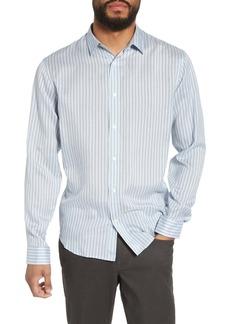 Vince Slim Fit Stretch Stripe Sport Shirt