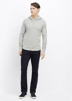 Vince Slub Cotton Thermal Hooded Henley