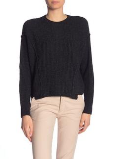 Vince Solid Dolman Panel Hem Sweater