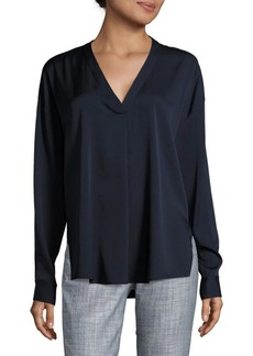 Vince Solid V-Neck Blouse