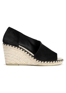 Vince Sonora Peep-Toe Suede Espadrile Wedge Sandals