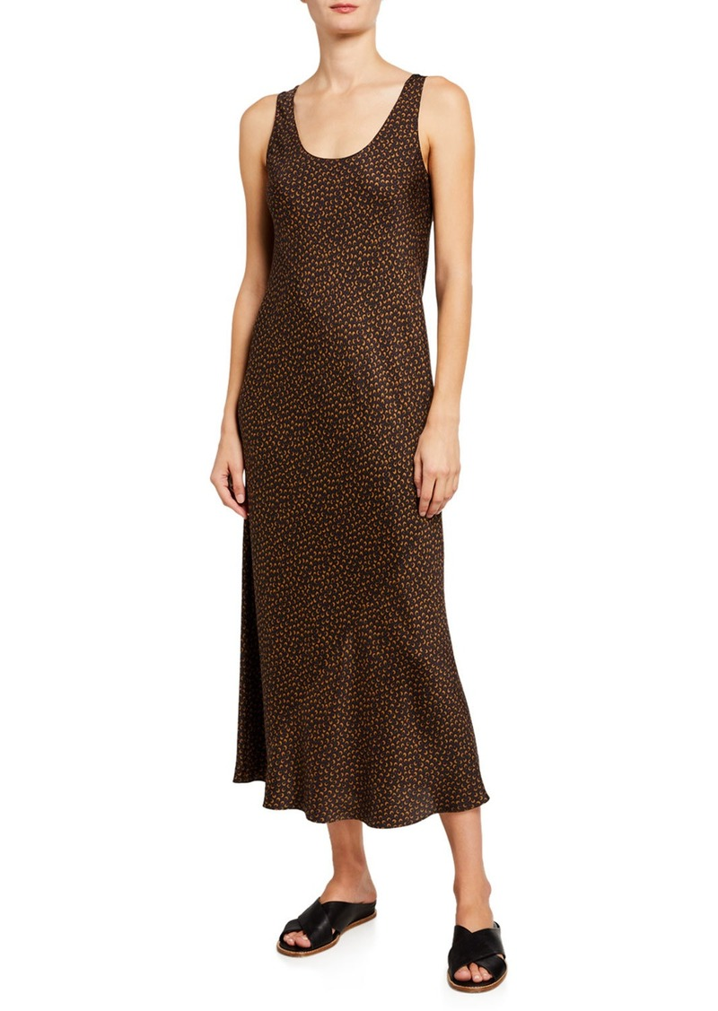 Vince Star Dot Print Scoop-Neck Tank Dress