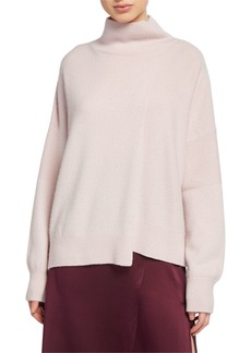 Vince Stepped-Hem Turtleneck Sweater