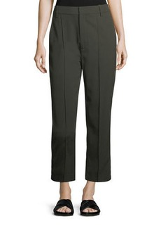 Vince Stitch-Front Straight-Leg Cropped Pants
