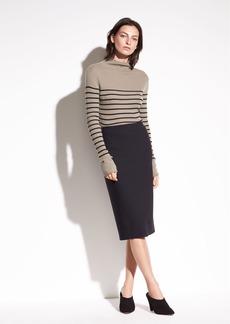 Stretch-Ponte Pencil Skirt