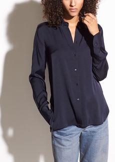 Stretch-Silk Crepe de Chine Shirt