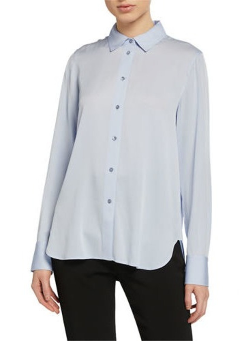 Vince Stretch-Silk Slim Blouse