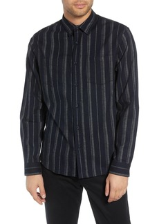 Vince Stripe Flannel Slim Fit Shirt