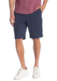 Vince Stripe Print Pull-On Shorts