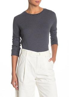 Vince Striped 3/4 Sleeve T-Shirt