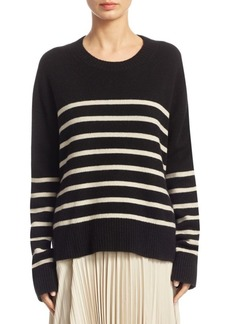 Vince Striped Boxy Cashmere Sweater