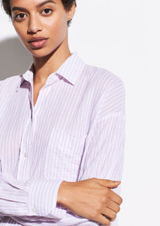 Vince Striped Boxy Long Sleeve Shirt