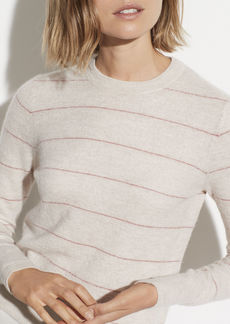 Vince Striped Cashmere Fitted Crew