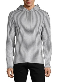 Vince Striped Cotton-Blend Hoodie