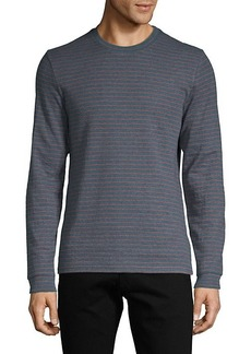 Vince Striped Cotton-Blend Sweater