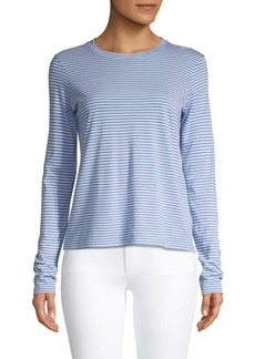 Vince Striped Cotton-Blend Tee