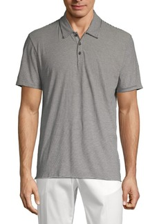 Vince Striped Cotton Polo