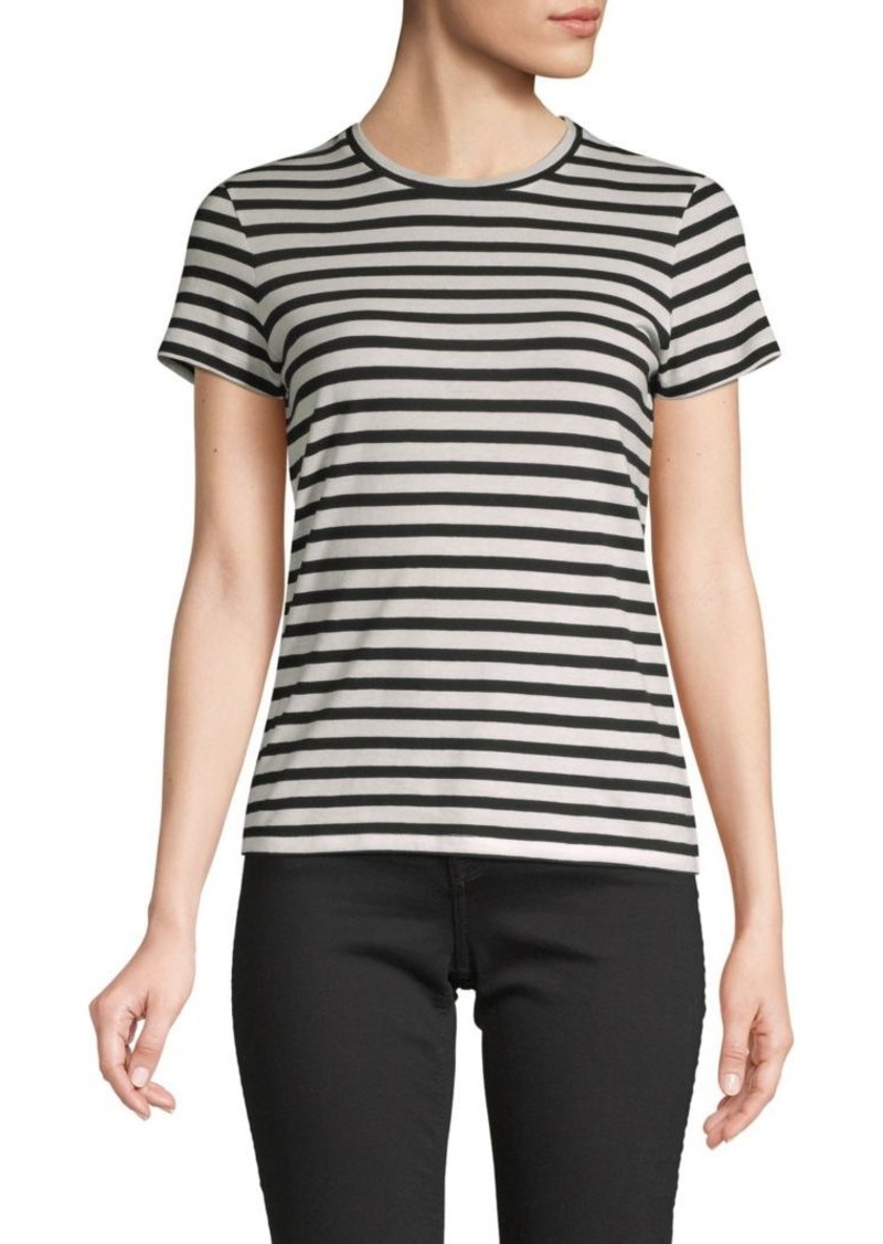 Vince Striped Cotton Tee