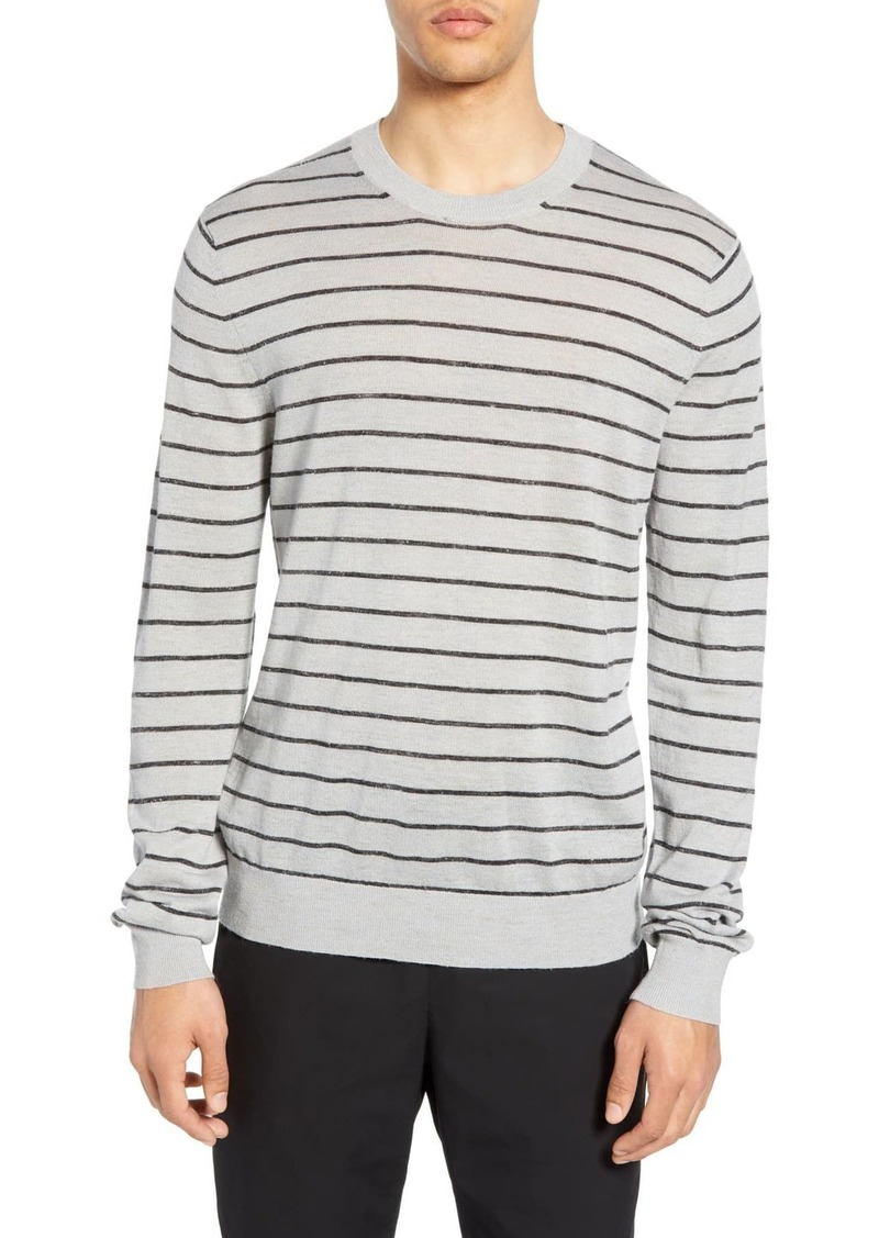 Vince Striped Crew Pullover Sweater