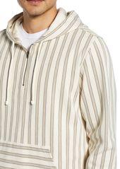 Vince Striped Half Zip Drawstring Hoodie