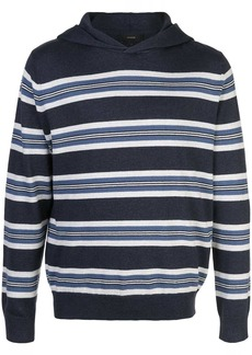 Vince striped hooded sweater