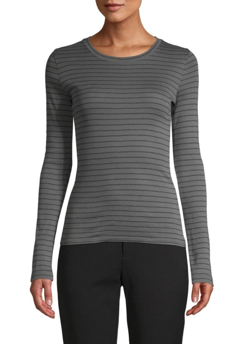 Vince Striped Long Sleeeve T-Shirt