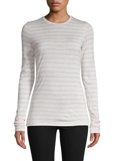 Vince Striped Long-Sleeve Tee