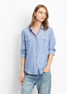 Vince Striped Military Shirt