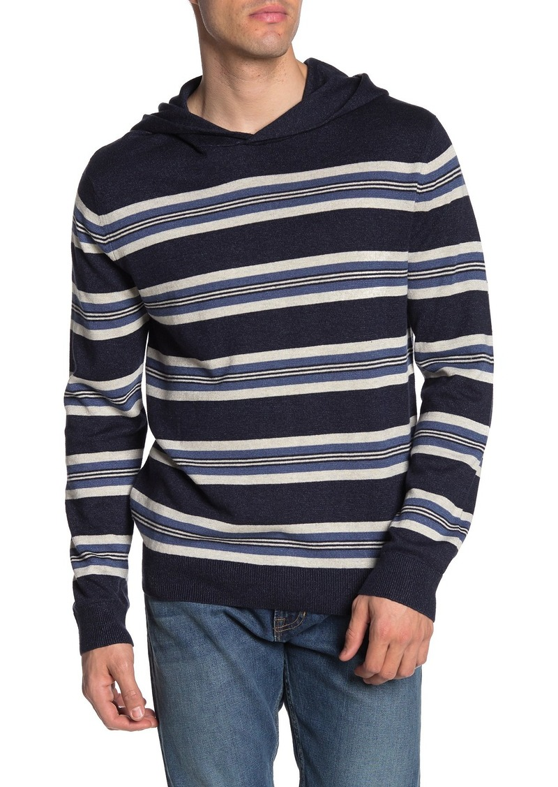 Vince Striped Pullover Sweater Hoodie