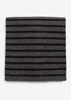 Vince Striped Ribbed Merino Wool Scarf