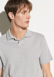 Vince Striped Slub Cotton Polo