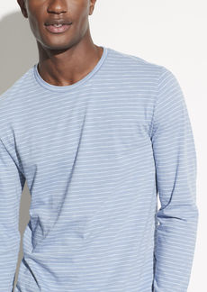 Vince Striped Slub Long Sleeve Crew