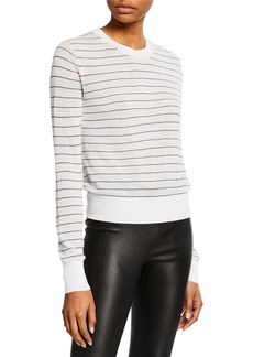 Vince Striped Textured Long-Sleeve Sweater