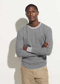 Vince Striped Thermal Long Sleeve Crew