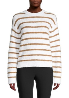 Vince Striped Waffle-Knit Sweater