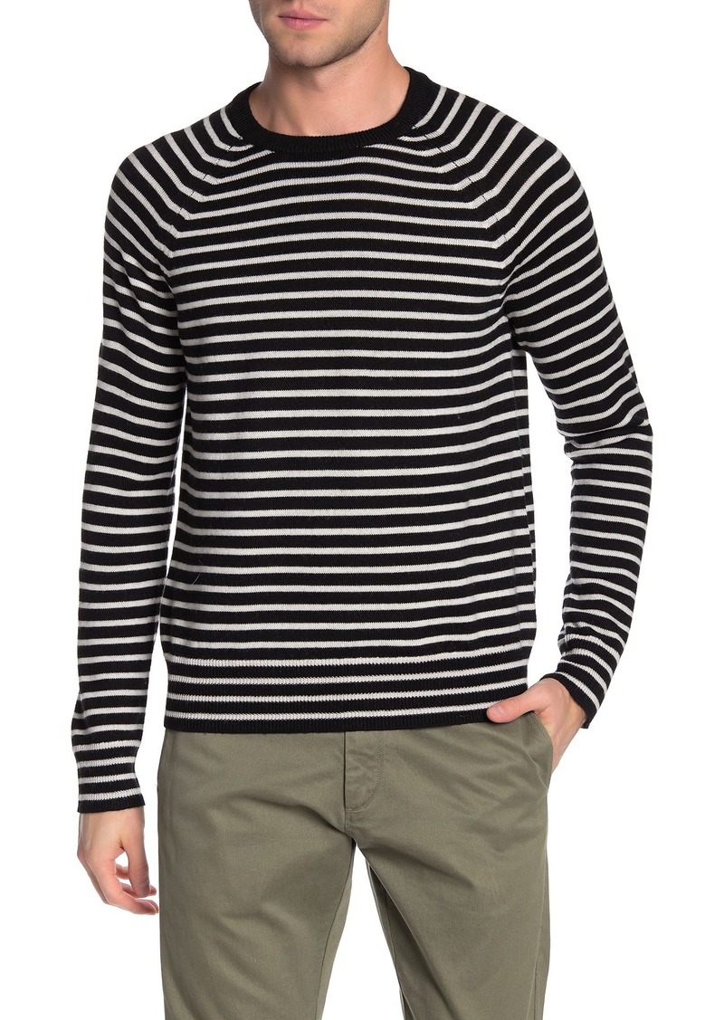 Vince Striped Wool Crew Neck Sweater