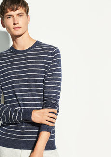 Vince Striped Wool-Linen Crew