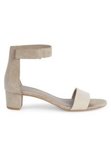 Vince Rita Suede & Canvas City Sandals