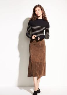 Suede Slit Skirt