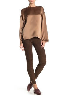 Vince Suede Zip Hem Leggings