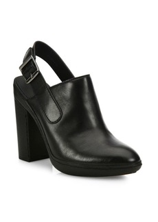 Vince Talya Leather Slingback Booties