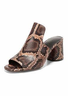 Vince Tanay Snake-Print Slide Sandal