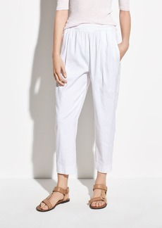 Vince Tapered Pull On Linen Pant